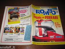 RIVISTA ROMBO 1989/24=MANSELL FERRARI=RALLY ACROPOLI=BMW 524 TD/MERCEDES 300 D=