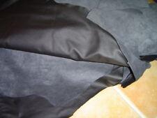 Lederhaut Oberleder Echtes Leder Rindleder Farbe schwarz abwaschbar ab 1 qm.