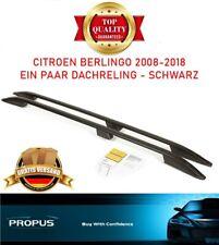 CITROEN BERLINGO 2008-2018 Dachreling Aluminium Dachgepäckträger Schwarz NEU