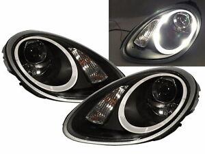 BOXSTER 987 05-08 PRE-FACELIFT D2S W/S BALLAST Headlight Black for PORSCHE RHD