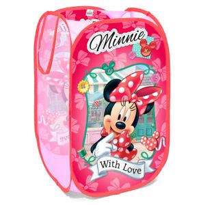 Disney Minnie Girls Kids Bedroom Pop Up Foldable Toys Storage Washing Basket