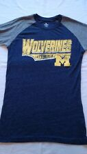 University of Michigan T Shirt Womens Wolverines Black/Gray Size Small