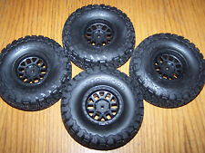 4- Axial SCX10 II 2000 Jeep Cherokee Front Rear 1.9 BFGoodrich Tires 12mm Wheels