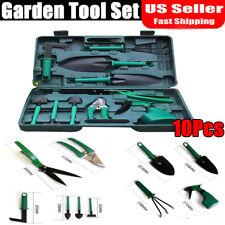 10Pcs Garden Tools Set Multifunctional Durable Effective Tool Case for Gardening