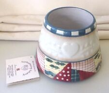 HOME INTERIORS Candle Jar Shade/Topper, HEARTWARMING HOLIDAYS - NEW