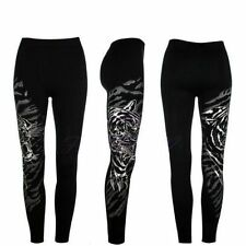 New Women Ladies Diamante Tiger Print leggings Sizes S-L