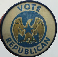 Vote Republican All the Way Flasher Lenticular Button Pinback Pin Election BL544