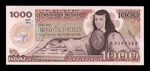 B-D-M México 1000 Pesos 1984 Pick 81 Serie WL SC UNC