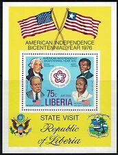 Liberia SC C214 Souv.Sht. US Bicentenniel-American Independence MNH 1976
