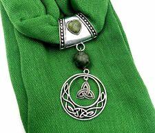 """Trinity Knot Charm Scarf"" Made with Genuine Irish Connemara Marble"