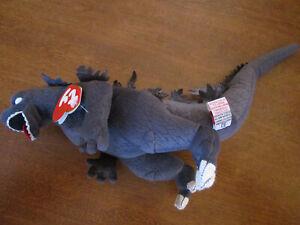 2001 Ty Beanie Baby Classic - Godzilla w/ White Eyes