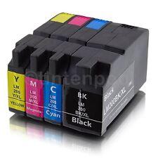 4 kompatible Patronen für Lexmark OfficeEdge Pro 4000 5500 Nr. 200 XLA BK/C/M/Y