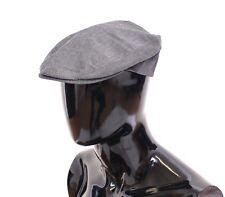 NWT $300 DOLCE & GABBANA Gray Cotton Logo Newsboy Cap Hat Cabbie s. 59 / L
