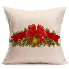 Christmas Cartoon Decoration Home Sofa Decor Pillow Case Cushion Cover Y3