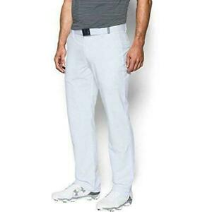 Under Armour Mens Loose Match Play Loose Fit Golf Pants White Size 34W x 32L