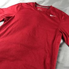 Nike Dri-Fit Shirt Sz Small Mens RED Short Sleeve Running T Shirt 371642