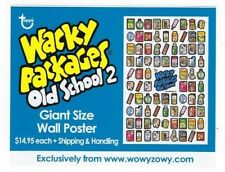 2010/11 Topps Wacky Packages OLD SCHOOL 2 GIANT SIZE WALL POSTER PROMO SHEET nm+