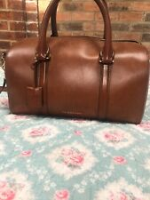 Burberry Alchstrarm Leather Top Handle Bag