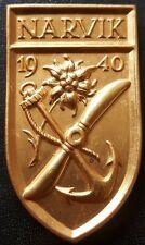 ✚8304✚ German army Wehrmacht post WW2 1957 pattern NARVIK shield NAVY 1942 ST&L