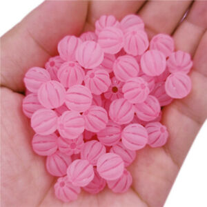 20Pcs 9mm Matte Pumpkin Loose Beads DIY For Jewelry Making Candy Color Pendant