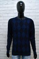 TOMMY HILFIGER Uomo Taglia L Maglione Lino Linen Pullover Sweater Man Cotone