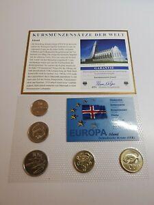 1 Krone - 100 Krone  Wildlife Set KMS Excellent Condition Coins Iceland