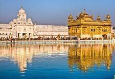 TRAVEL VISIT INDIA AMRITSAR GOLDEN TEMPLE PUNJAB VINTAGE FRAMED PRINT B12X137