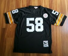 Mitchell & Ness Jack Lambert #58 Pittsburgh Steelers 1975 Throwback Jersey Sz 50
