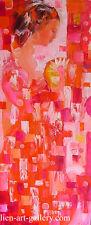Gentle beauty  OOP  Orig oil painting  Van Ngo Thanh b1979 VUFA2006 47x19 inches