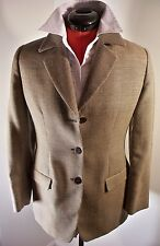 MANI houndstooth jacket, size 8/42, 100% fine wool, Made in Italy