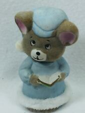 Vintage jasco Bedtime Critters Porcelain Bell Christmas Xmas Taiwan 25364