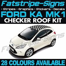 FORD KA MK1 GRAPHICS CHECKER ROOF CAR STRIPES DECALS STICKERS ST STREET SPORT RS