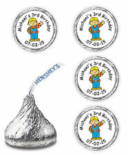 108 BOB THE BUILDER BIRTHDAY PARTY FAVORS KISSES LABELS DECALS SUPPLIES STICKERS