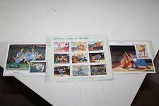 3 WALT DISNEY'S  CASEY AT THE BAT THE GAMBIA  STAMP SHEETS with COA
