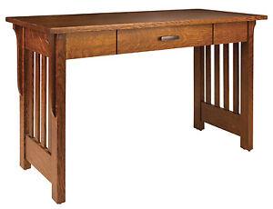 "Amish Mission 48"" Writing Desk Boston Quarter Sawn White Oak"
