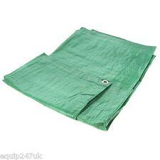 Green Heavy Duty 5.4m x 7m (18ft x 24ft) Polyethylene Woven Tarpaulin