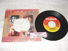 "Bangles ""Manic Monday / In A Different Light"" 45 RPM,7"",1985 Pop, +Jukebox Strip"
