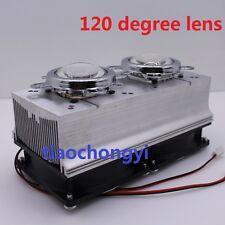 120 degree 12V Led Heatsink Fan + Glass Lens for 20W 30W 50W 100W High Power Led