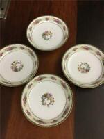 Porcelain Union Pun9 Flat Cream Soup Bowls Set of 6