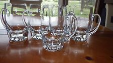 Heavy Crystal Handled Mugs Weighted Star Bottom 5 16 ounce Mugs Beautiful