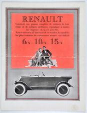 Prospectus AUTOMOBILES RENAULT 6? 10 1 15 CV