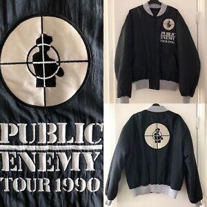 RARE Public Enemy 1990 Tour Jacket