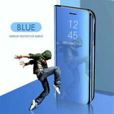 Smart Leather Flip Mirror 360 Phone Case Cover For Samsung Galaxy S10 Plus S10e