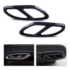 Exhaust Tip Pipe for Mercedes Benz CLA 2016-2017 Cover Muffler Trim 2pcs Tail