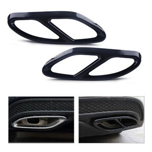 Exhaust Tip Pipe fit for Mercedes Benz CLA 2016-2017 Cover Muffler Trim 2pc Tail