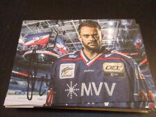 66406 Christopher Fischer Adler Mannheim Eishockey signierte Autogrammkarte
