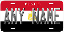 Egypt Flag Personalized Any Name Text Aluminum Novelty Car License Plate