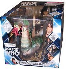 "5"" Doctor Who Image of the Fendahl, Leela Action Figure Set, New!"