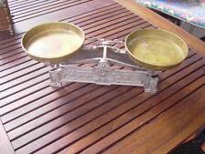 alte Jugendstil Küchenwaage Balkenwaage, Krämerwaage sehr dekorativ