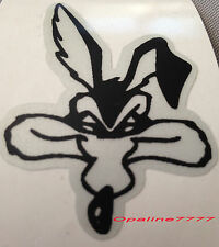 STICKER AUTOCOLLANT REFLECHISSANT COYOTE  SKULL BIKER CASQUE SCOOTER VELO QUAD